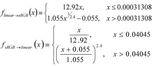 Linear2sRGB&sRGB2Linear